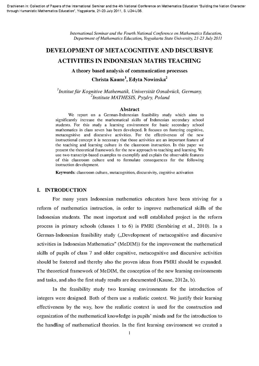Development of Metacognitive and Discursive Activities in Indonesian Maths Teaching.pdf